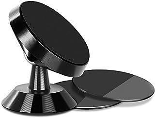 TIQUS 車載ホルダー スマホスタンド マグネット式 スマホ タブレット 360度回転 iPhoneなど多機種対応【ブラック】