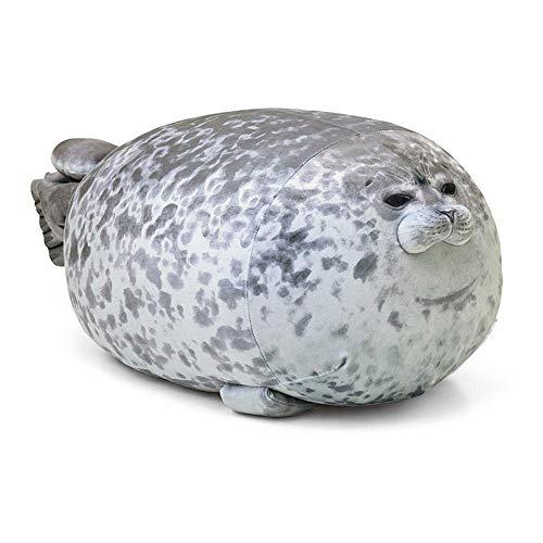 Baiwka Plüsch süße Robbenkissen, gefüllte Baumwolle weich Tier Spielzeug mollig umarmt Kissen Spielzeug süße Ozean Kissen Haustiere Geschenk für Kinder Paare Freunde Mädchen, Grau, S (30 cm)