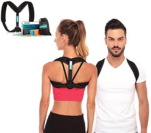MARAKYM Adjustable Clavicle Posture Corrector for Women & Men - Under...