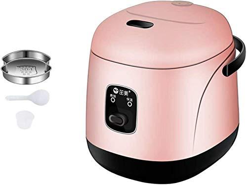 Sooiy Mini Reiskocher für den HeimgebrauchNonstick Reiskocherautomatisch 1.2L Kapazität für1-3 Personen Reiskocher,Rosa