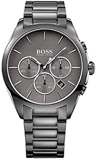 Hugo Boss Men's Chronograph Quartz Watch With Stainless Steel Strap 1513364, Black Band