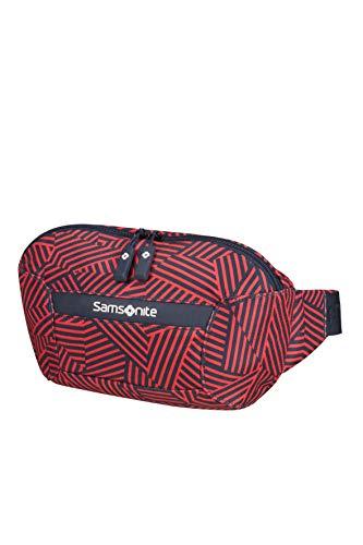 Samsonite Rewind Riñonera, 24 cm, 2.5 L, Rojo (Capri Red Stripes)