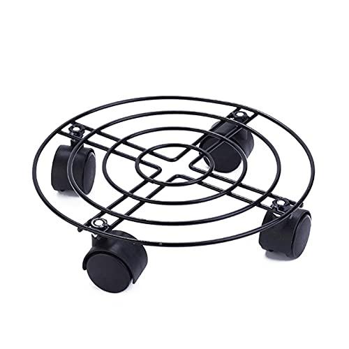 MOVKZACV Carrito para plantas, soporte para maceta con ruedas de fácil movimiento, 360 grados,...