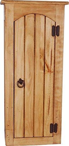 MiaMöbel Hängeschrank Mexico Möbel 35x78x20 cm Landhausstil Massivholz Pinie Honig