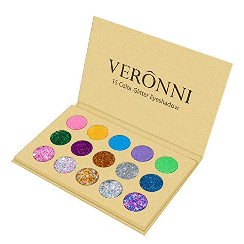 ARTIFUN 15 Color Eye Shadow Palette Glitter Waterproof Long-lasting Pressed Pigment Professional Matte Eyeshadow Powder