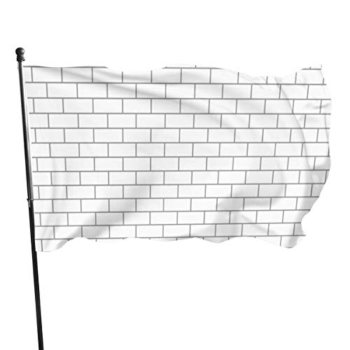 LL-Shop White Brick Systems Home Builders Fly Breeze 3x5 Foot Flag, Drapeaux de Plage durables résistants à la décoloration avec en-tête et œillet en Laiton