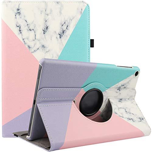 Funda giratoria para Samsung Galaxy Tab a 8.0 2019 (SM-T290/T295) – Funda protectora giratoria de 360 grados con función de apagado automático para Samsung Tab A8 Tablet de 8 pulgadas (mármol)