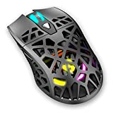 Raton Gaming Krom Kaiyu -NXKROMKAIYU- RGB, Ligero y Resistente Cuerpo de Estructura panelada, Sensor óptico, 6 Niveles, 1200 dpi, Software programable, Color Negro
