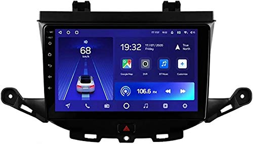Autoradio Android 10.0 compatibile con radio Opel Astra K 2015-2019 Navigazione GPS Unità principale da 9 pollici Touchscreen MP5 Lettore multimediale Ricevitore video con 4G WiFi Car In-Dash Video