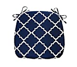 FBTS Prime Outdoor Chair Cushions (Set of 2) 16x17 Inch Patio Seat Cushions Navy Square Chair Pads for Outdoor Patio Furniture Garden Home Office