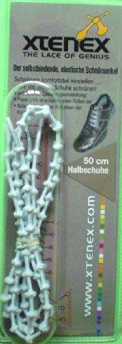 Xtenex Schnürsenkel Dress, Weiß, 50 cm, 0836671001028