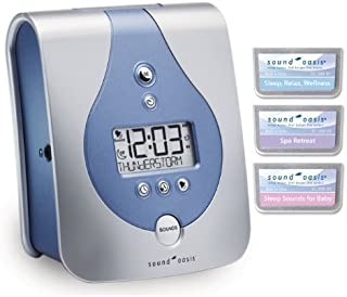 Sound Oasis Sleep Sound Therapy System with Sleep Relax Wellness, Spa Retreat and Sounds for Baby Expansion Sound Cards Included.