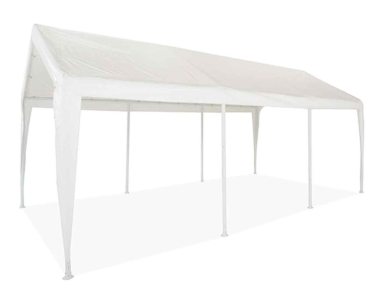 Impact Canopy 10' x 20' Portable Carport Garage, Sun and Rain Shelter, Wedding Shelter, Party Shade, 8 Legs, White