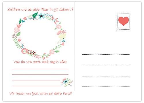 Hochzeitspiel: 52 Postkarten mit spannenden Fragen für Gäste und das Brautpaar - 3