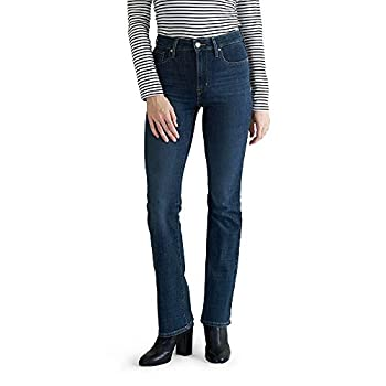 Levi s Women s 725 High Rise Bootcut Jeans Lapis Dark Horse 28  US 6  L