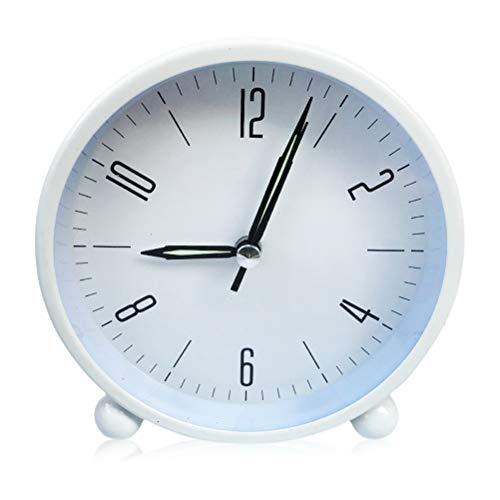 Kooshy Réveil pour Enfants, Réveil Vintage Grand Cadran de 4 Pouces, Réveil analogique à Quartz avec Alarme Forte Pas de tic-tac sans Bruit, à Piles