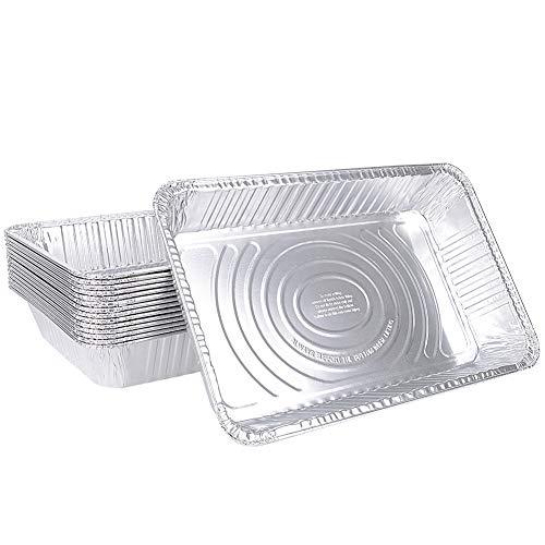 XIAFEI Disposable Aluminum Oblong Foil Steam Table Pans, Full Size Deep, Heavy Duty Roaster Pans (15 Pack)