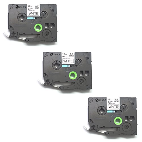 SIENOC Replacement Label Tape Compatible with Brother TZ231 Tze231 Pack of 3