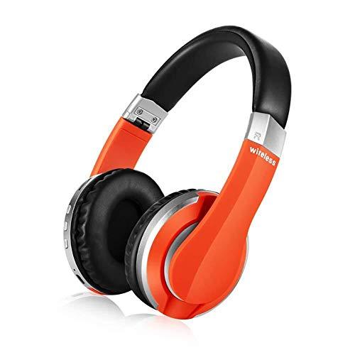 KK Zachary Auricular Inalámbrico Bluetooth 5.0, Plegable Gaming Headset con Micrófono Incorporado, De Carga USB, Deportes Auriculares Estéreo Bluetooth (Disponible En Cuatro Colores)