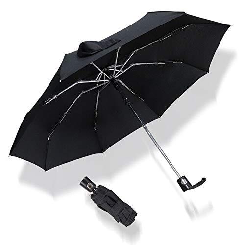 NJSDDB paraplu Mini Automatische paraplu Regen Vrouwen 5Vouwen Mode Kleine Paraplu Vrouwen Ultralight UV Parasol Reizen Outdoor Kids Mannen Paraplu China Zwart
