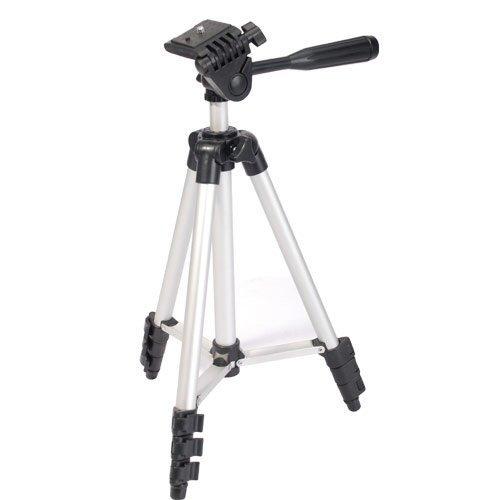 EX-Pro DigiPod TR-130S profesional cámara de fotos/videocámara trípode (350mm–1060mm) 101,6cm trípode de viaje, nivel de burbuja, rápido de montar (apto para Nikon Coolpix, Canon, Casio Exilim, Fuji Finepix, Kodak Easyshare, Panasonic Lumix, Olympus, Pentax Optio, Samsung Digimax, Sony Cyber-shot/Alpha y más)
