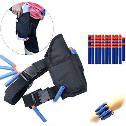 COSORO - Cavezza tattica per bambini, con 50 ricariche per freccette + 2 fasce per polso Nerf Gun N-Strike Elite