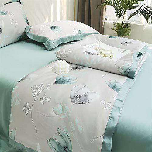 Cool Summer - Edredón de plumón de 1,5 tog, diseño de planta quilt, 100% algodón, para sofá cama Throw 003 (color D, tamaño: 200 x 230 cm)
