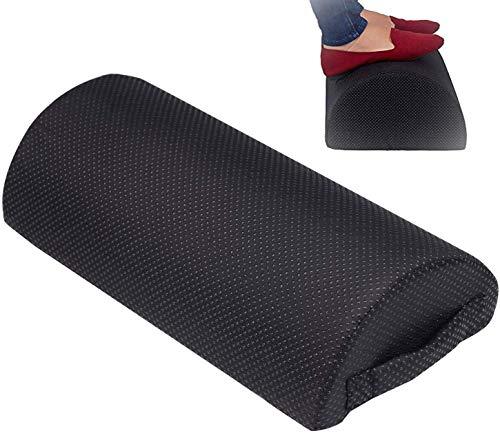MEIXI Fußstütze unter dem Schreibtisch, ergonomisches Fußstützenkissen mit Schwamm hoher Dichte, Fußkissen für verbesserte Körperhaltung und Stressabbau in Büro und Haushalt (Schwarz)