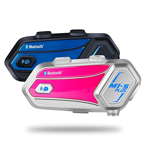 XBJSY Música Sharing M1-S Plus Motorcycle Casco Intercom para 8 Altavoces De Auriculares Bluetooth Wireless Bluetooth GLZERJ
