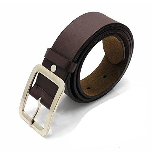Cinturones casuales de cuero sintético cinturón hebilla cintura correa cinturón (café, tamaño libre)