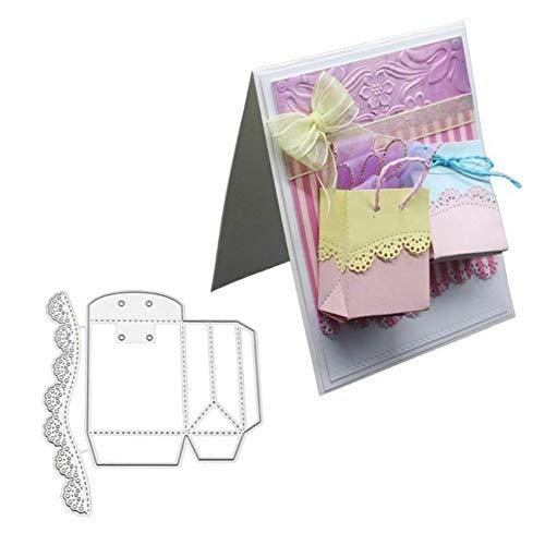 TankMR 3D Gift Box Tas Metaal Snijden Stencil Metalen mal Sjabloon voor DIY Scrapbook Album Papier Kaart Maken