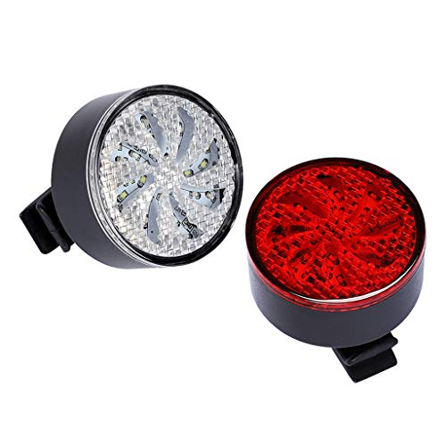 freneci 2Pcs Bike Rear Light USB Rechargeable 7 Light Modes Strap-on Easy To Install