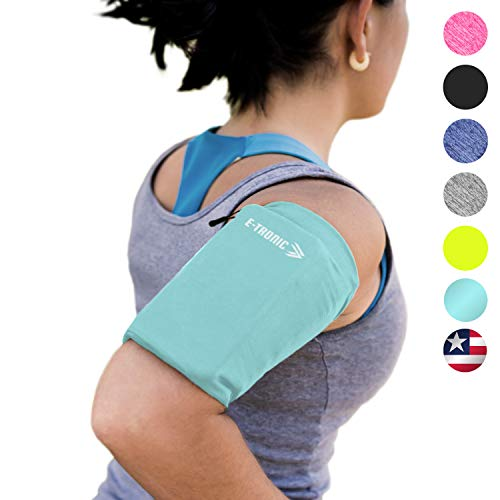 Phone Armband Sleeve: Best Running Sports Arm Band Strap Holder Pouch Case for Exercise Workout Fits iPhone 5S SE 6 6S 7 8 Plus iPod Android Samsung Galaxy S5 S6 S7 S8 Note 4 5 Edge LG HTC Pixel SM