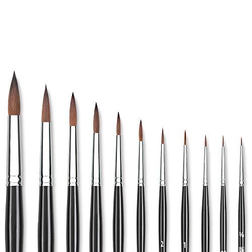 Princeton (1-Pack) 7050 Kolinsky Sable Short Handle Watercolor Paint Brush Size 1 Round 7050R-1--Best Watercolor Brush