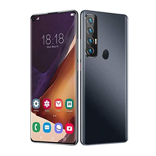 """JFGX Smartphones SSS @ Rino5 Pro 5G Debloqué Pas Cher, 12GB RAM + 512GB ROM, 7.2 """"Plein écran, 18MP + 48MP, 5000 mAh Baterías, Face ID y Desbloqueo por Huella Dactilar, Teléfono Dual SIM"""