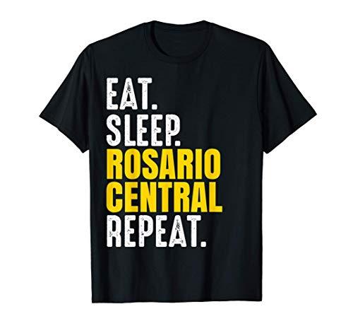 Rosario Central Regalo Eat Sleep Repeat Fútbol Argentina Camiseta