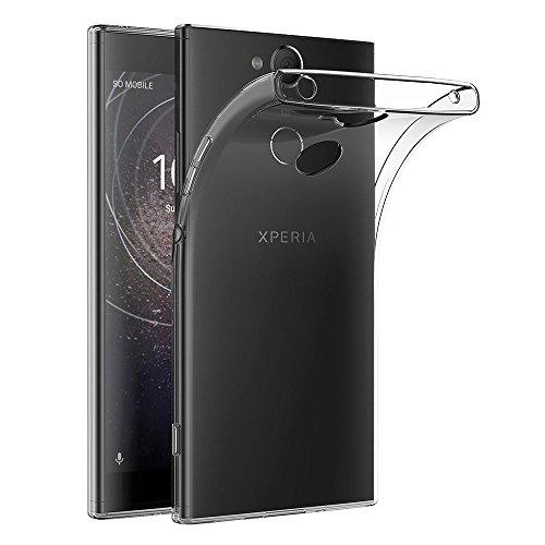 AICEK Cover Sony Xperia XA2, Cover Xperia XA2 Silicone Case Molle di TPU Trasparente Sottile Custodia per Sony XA2 (5,2 Pollici)