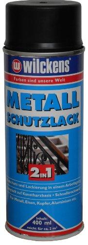 ROLLER Metall-Schutzlack - 2 in 1 - schwarz - hochglänzend - 400 ml