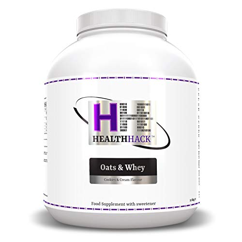 Health Hack - Avena y suero de leche, 2,5 kg, galletas y crema