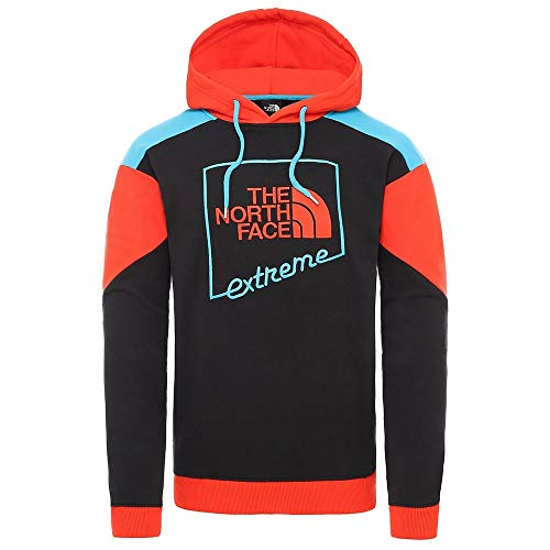 The North Face M Extreme trui hoodie heren sweatshirt NF0A4A9YP321 TNF Black Combo Fiery Red Combo