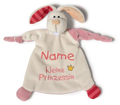 *Nici 40042 Schmusetuch Hase kleine Prinzessin mit Namen bestickt*