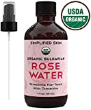 Rose Water for Face & Hair, USDA Certified Organic Facial Toner. Alcohol-Free Makeup Setting...