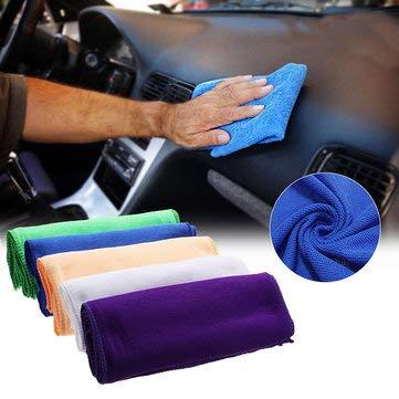 Wash+Dry Sports & ☛ Fournitures de voyage en extérieur – Lot de 50 chiffons de nettoyage en microfibre pour cuisine, camping, nettoyage – 10 x ; bleu
