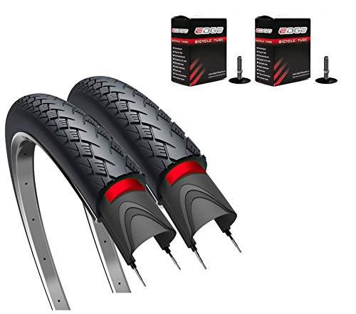 "Edge 2 x Fahrradreifen 28"" Metro Elite Protect Plus Pannensicher 40-622 28 x 1,50 Fahrrad Reifen mit Reflexstreifen (2 x AV | Autoventil)"