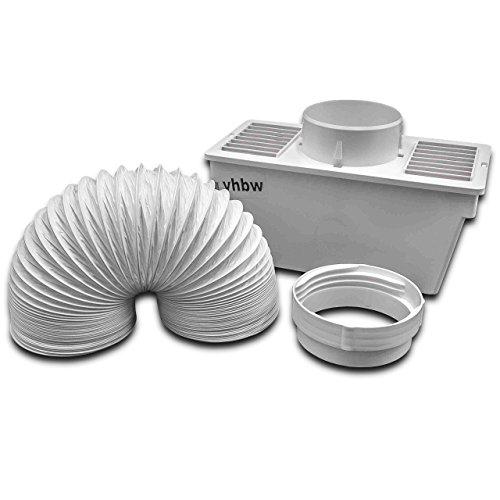 vhbw Depósito condensación reemplaza Electrolux 9029792331, 50294700005 para secadora de evacuación - Condensador con manguera aire escape, abrazadera