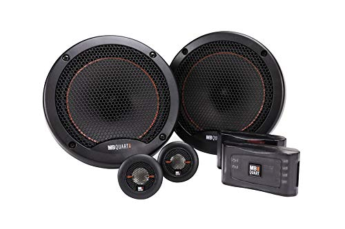 MB Quart RS1-216 Reference 2-Way Component Speaker System (Black, Pair) – 6.5 Inch Component Speaker System, 220 Watt, Car Audio, 4 OHMS (Grills Included)