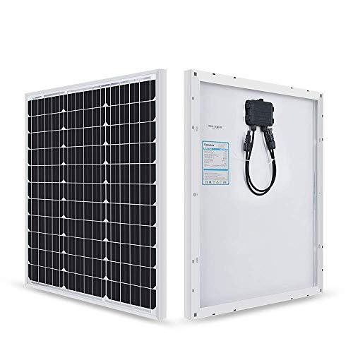 Renogy 50 W Solarmodul Mono 12 V, Solarpanel, Solarzelle, Photovoltaikmodul für Aufladen von 12V Solarbatterie IP65 wasserdichte Anschlussdose