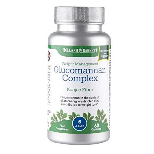 Holland & Barrett Glucomannan Complex, Appetite Suppressant, 60 Capsules
