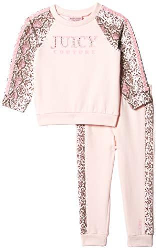 Juicy Couture Girls' 2 Pieces Pants Set, Pink/Print, 3T