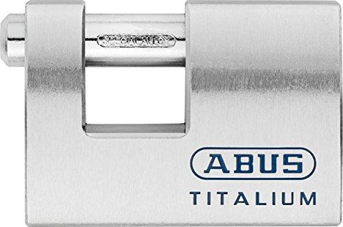 Abus 70746 Candado rectangular titalium, plateado, M